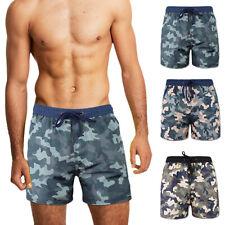 Costume Uomo Militare Pantaloncino Mare Boxer Camouflage Shorts Bagno VEQUE