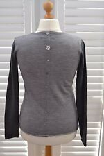 Fenn Wright Manson Jumper Grey Wool Fine Knit Button Detail at Back - Size XL