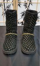 I ❤️ UGG Boots SIZE 7 BLACK & GOLD HEARTS
