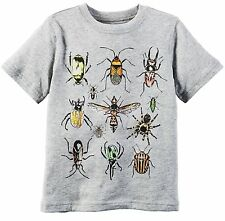 "Carter's Boys' Heather ""Bug Graphic"" Short Sleeved Tee Shirt (3m)"
