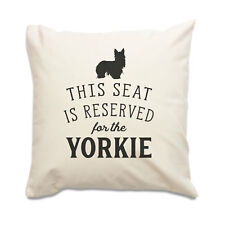 NUEVO - Reserved for the Yorkie - Funda De Cojín - Yorkshire Terrier Regalo