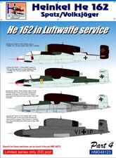 H-Model Decals 1/48 Heinkel He 162 Spatz/Volksjager He 162 in Luftwaffe Service