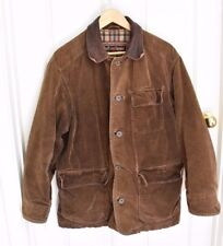Marlboro Classics Outdoor Heavy Jacket Brown Leather Collar Vintage Size SM Mens