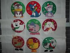 EMBROIDERED QUILT BLOCKS - 9 COLD WEATHER FRIENDS