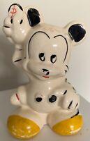 Fun Vintage 30s Ceramic Mickey Mouse Collectible Coin Change Savings Bank Disney