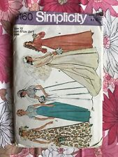 SIMPLICITY 6160 sewing pattern 1976 COMPLETE vintage retro Miss Wedding Dress
