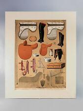 LITHOGRAPHIE EQUESTRE ANCIENNE,sellerie Alp. Camille, chevaux,selles équitation