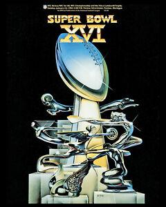 Super Bowl XVI (1982 - 49ers vs Bengals) Game Program - 8x10 Photo