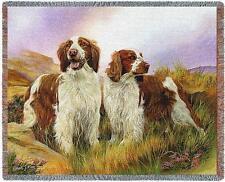 Throw Tapestry Afghan - Welsh Springer Spaniel Pair by Robert May 3298 In Stock