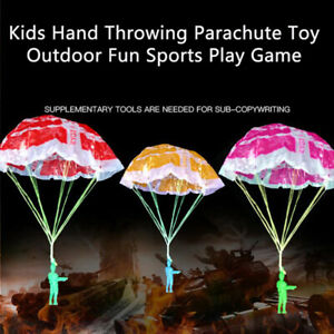 2Pcs Hand Throwing Kids Play Parachute Toy Soldier Outdoor Sports Children _s ZW