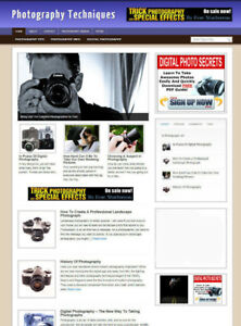 PHOTOGRAPHY TECHNIQUES WEBSITE WITH AFFILIATE STORE & BANNERS + DOMAIN & HOSTING