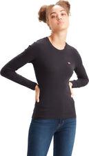 Levi's Women Longsleeve Tee Athletic Casual Black Crewneck Clothing 69555-0014