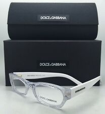 New DOLCE & GABBANA Rx-able Eyeglasses DG 3115 1896 51-17 Clear White Lace Frame