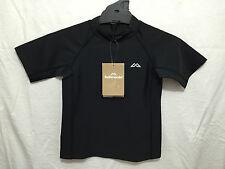 BNWT Boys Sz 2 Smart Black Kathmandu Brand Short Sleeve Rash Vest UPF50+ RRP $40