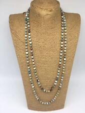 Fashion semi precious stone long knot 6mmAmazonite Stones Necklace woman jewelry