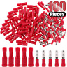 100PCS RED Male & Female Insulated Bullet Connector Terminals 22-16AWG Wire Set