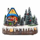 Snow House Village LED Light Luminescent Decoration Christmas Music Holiday Home