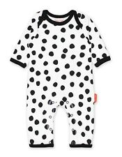 Toby Tiger black and white spotty unisex play suit baby grow 0-3 months