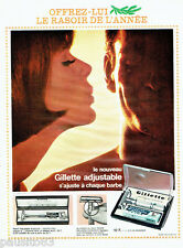 PUBLICITE ADVERTISING 026  1963  le rasoir Gillette ajustable Aristocraft