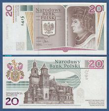 POLEN / POLAND 20 Zlotych 2015  in Folder  UNC  P. 188
