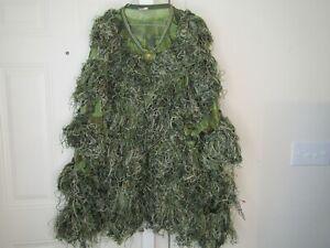 Gander Mountain Woodland Ghillie suit camouflage, 5 piece . Storage strap torn