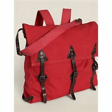 RALPH LAUREN RRL DOUBLE RL FALCON Canvas Leather Oversized Backpack Shoulder Bag