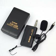 Wireless Microphone FM Transmitter Receiver Professionnal Lavalier Lapel Mic