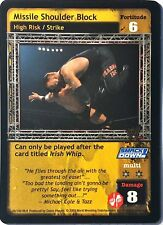 WWE Raw Deal CCG Velocity 8.0 MIssile Shoulder Block