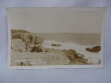 VINTAGE REAL PHOTO POSTCARD VIEW FROM OCEAN DRIVE AT BAR HARBOR MAINE 1932