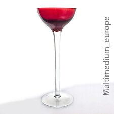 Langstieliges Stengelglas in Rot im Jugendstil