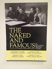 THE NAKED AND FAMOUS 2014 Australian Tour Poster A2 In Rolling Waves & ***NEW***