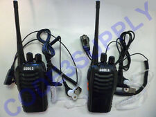 2 Way Radio Walkie Talkie Package CIA Acoustic Tube Headsets for Security Staff