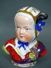 Dresden Potschappel Kinderköpfchen Mädchen Büste Figur Figure Figurine um 1901