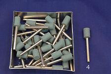 "25X 1/4""x1/2"" Small Green Barrel Grind Stone 1/8 stem Dremel's or Rotary Tools"