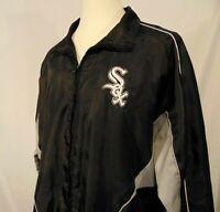 Chicago White Sox MLB Mens Jacket XL Genuine Merchandise Vintage Zip Up Black