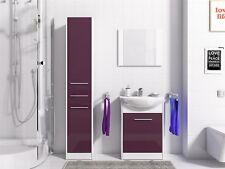 Badmöbel Set 4-Tlg Weiss / Violet HGL PERM Nr.2  inkl.Waschtisch