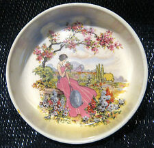 L & Sons Hanley China pin dish with gorgeous pastoral scene.  Approx 3 3/8 ins