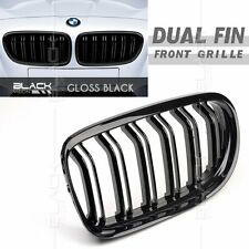 Gloss Black Dual Fin Kidney Front Grille for BMW E90 E91 LCI 2009-2012 Free Clip