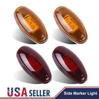 4x For 99-12 CHEVY GMC LED Front & Rear Dually Bed LED Side Fender Marker Lights