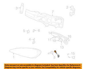 GM OEM Headlight Head Light Lamp-Headlamp Bulb Retainer 16524656