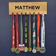 Personalised Name Medal Hanger Holder Display Achievement Hook Board
