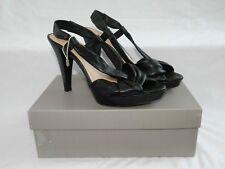 Sandali Vivien nappa nera tacco alto plateau n° 41 con scatola Scarpe donna moda