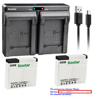 Kastar Battery Dual Charger for Xiaomi YI AZ13 AZ13-1 & Xiaomi Yi Action Camera