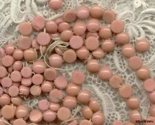 Vintage COUTURE GLASS Cheyenne Pink Rose BUTTON Nailheads BEADS Sew on mix sizes