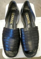 Vintage leather Connie sandals shoes Size 8.5 Made in Brazil