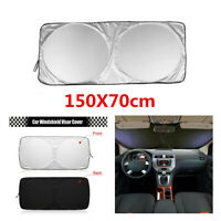 Portable Sliver Car Windshield Visor Cover  Sun Protection Front Windows Shade