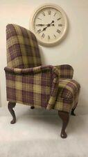 Small Custom Made Purple Lana Tartan Bedroom Armchair. Free Delivery UK Mainland