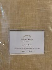 NEW ONE Pottery Barn Emery Drape 3-in-1 Pole Top Drape Wheat Gold 50x84