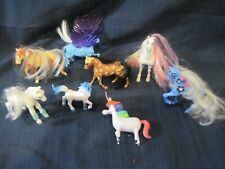 "Vintage Plastic Horses Fantasy Fillies Pegasus Unicorns Approx 3-5"" HTF"