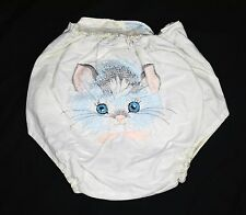 1960s VINTAGE Cat BABY CLOTHES INFANT DIAPER PLASTIC PANTS Cover Large Child